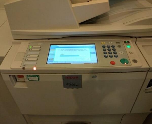 Giới thiệu về máy photocopy Ricoh Aficio MP 6001