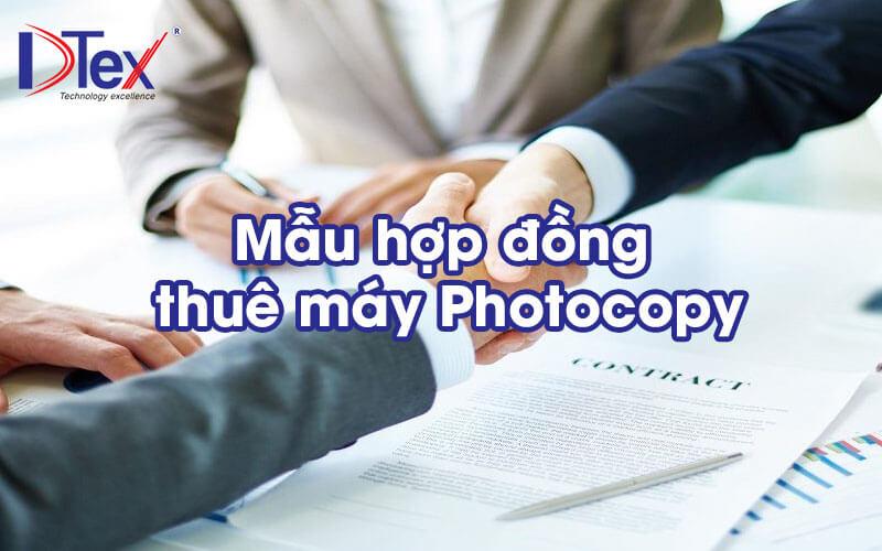 Mẫu hợp đồng cho thuê máy Photocoppy