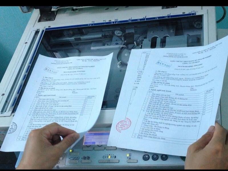 Cách photo 2 mặt giấy trên máy Ricoh