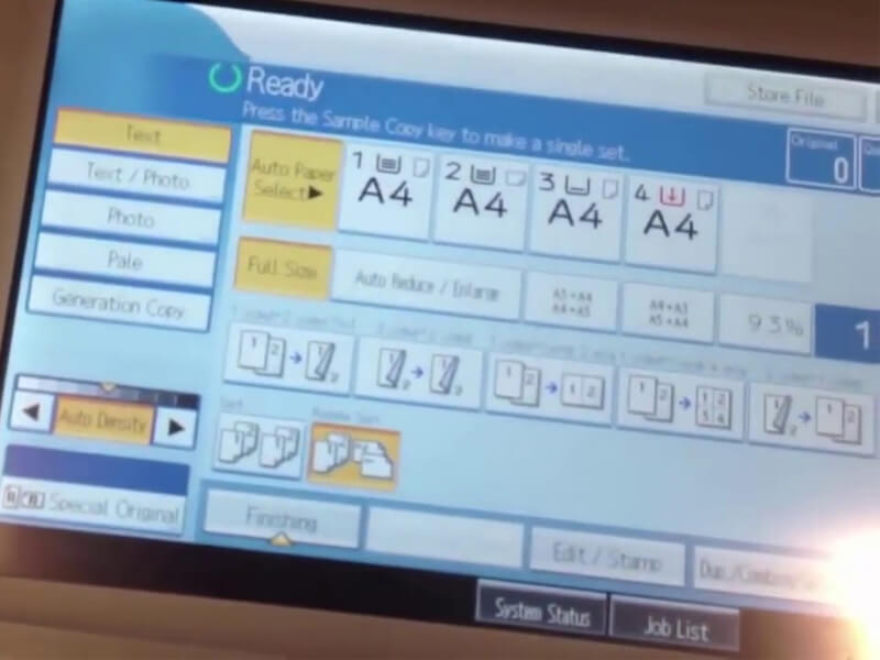 Chia sẻ cách cài đặt địa chỉ IP cho máy photocopy Ricoh
