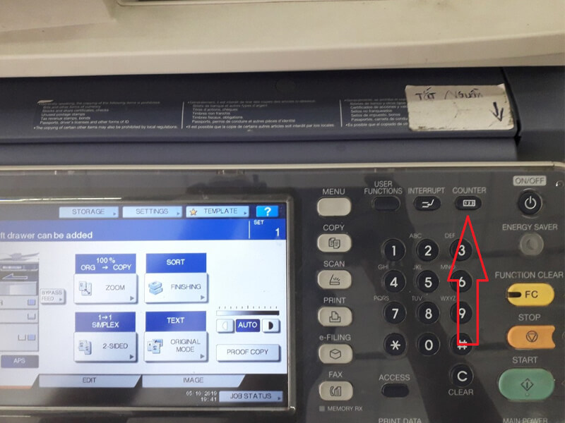 Hướng dẫn đọc số counter trong máy photo