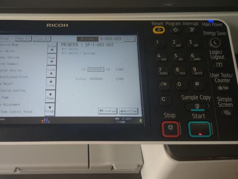 Cách lấy và đọc số counter trong máy photo