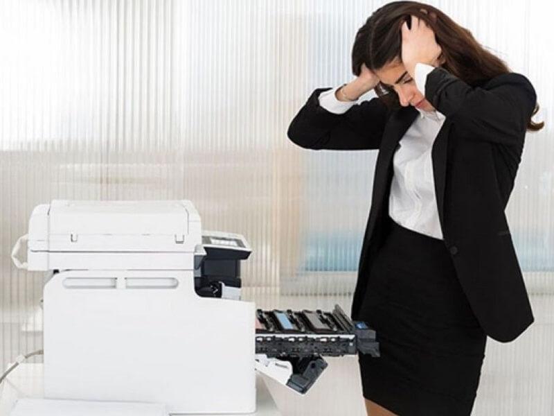 Máy photo kêu to gây ồn cho văn phòng làm việc