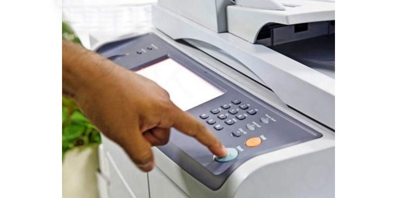 Bấm chọn start và để máy photocopy làm việc