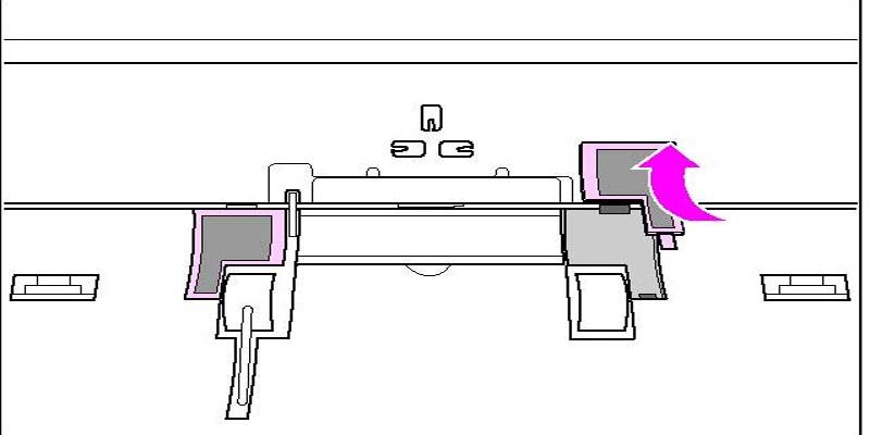 Bộ phận tách giấy giúp cho giấy không bị dính vào nhau.