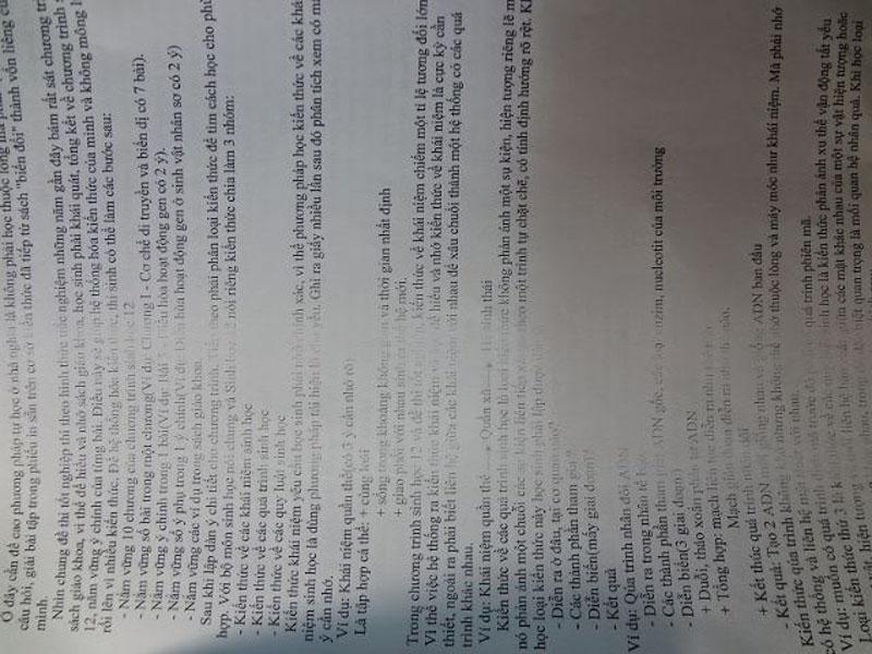 Chữ in bị mờ một phần hay thậm chí cả bản photocopy
