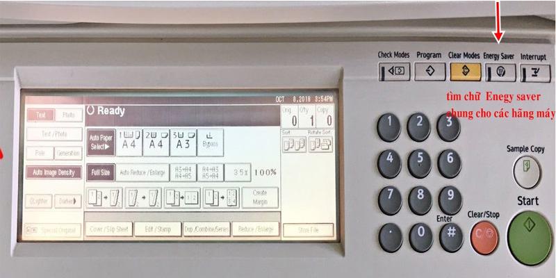 Energy saver là chức năng tiết kiệm điện được trang bị trên hầu hết các máy photocopy để tiết kiệm điện năng