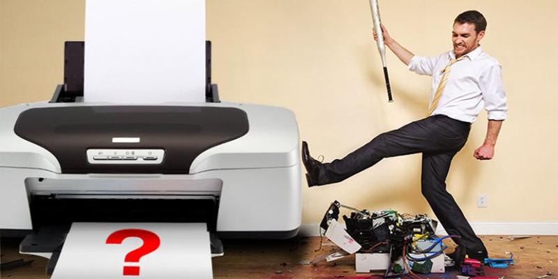 Máy photocopy in ra giấy trắng