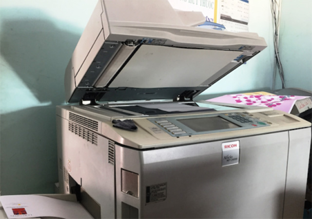 Khi không cần sử dụng máy photocopy trong một thời gian dài